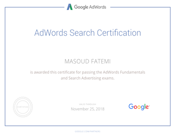 certificate from google